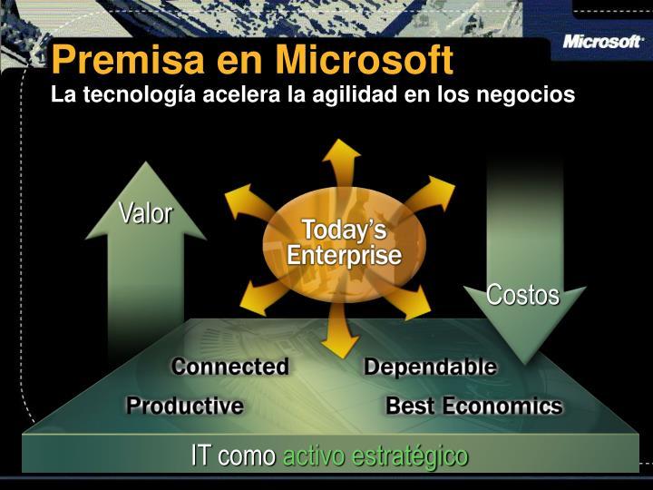 Premisa en Microsoft