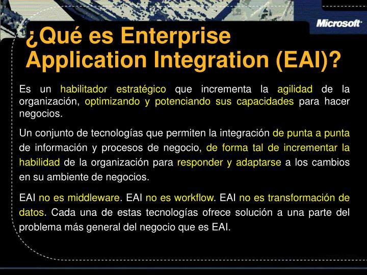 Qu es enterprise application integration eai