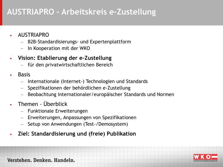 AUSTRIAPRO – Arbeitskreis e-Zustellung
