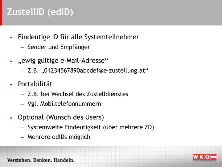 ZustellID (edID)