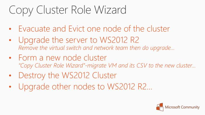 Copy Cluster Role Wizard