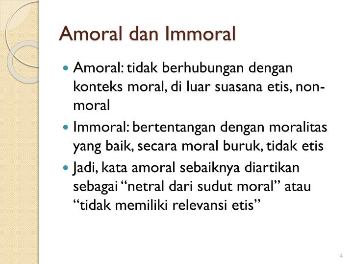 deciding what is moral and immoral Those components include moral sensitivity, moral judgment, moral motivation and moral character sensitivity of morality refers to a person's ability to understand how one's actions impact others, while judgment of morality refers to correct reasoning to arrive at a moral conclusion.