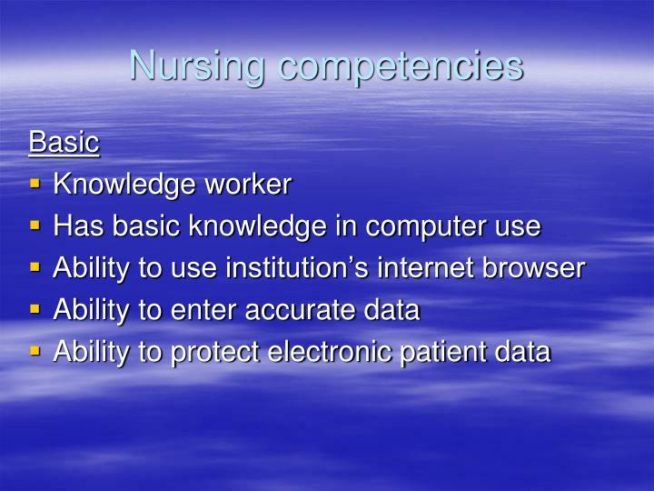 Nursing competencies