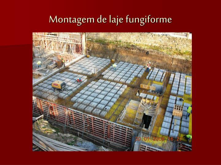 Montagem de laje fungiforme