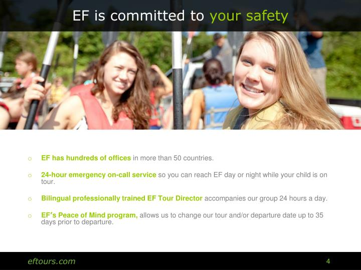 EF is committed to