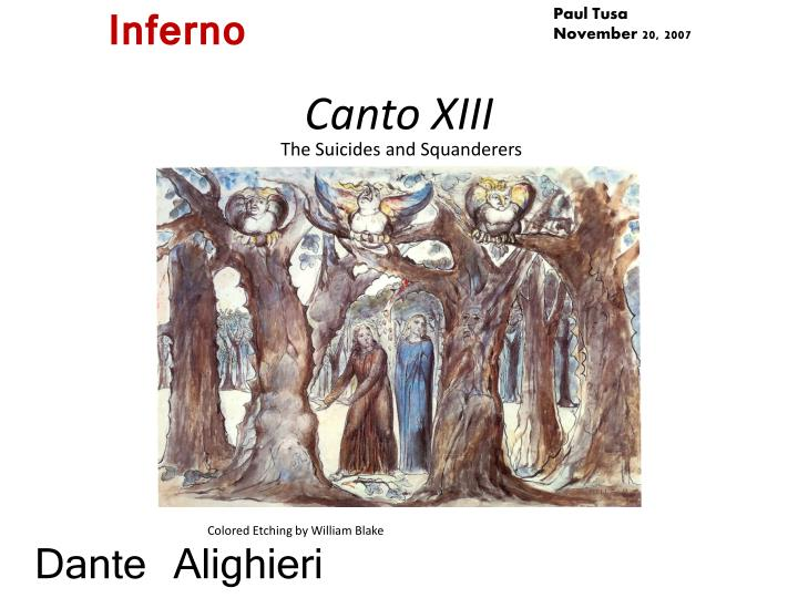 canto xiii n.