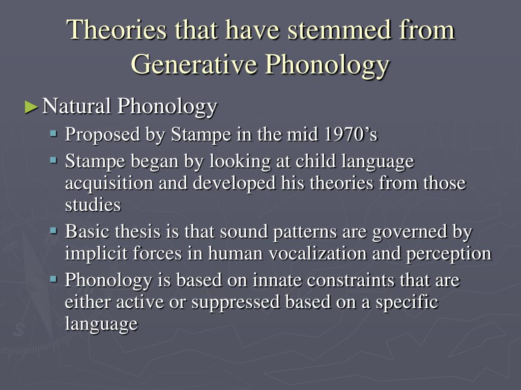 A dissertation on natural phonology stampe