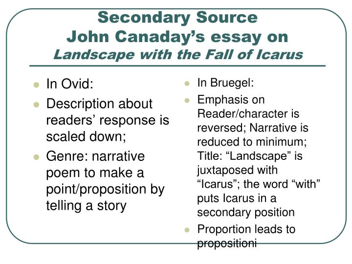 what is a secondary source for an essay