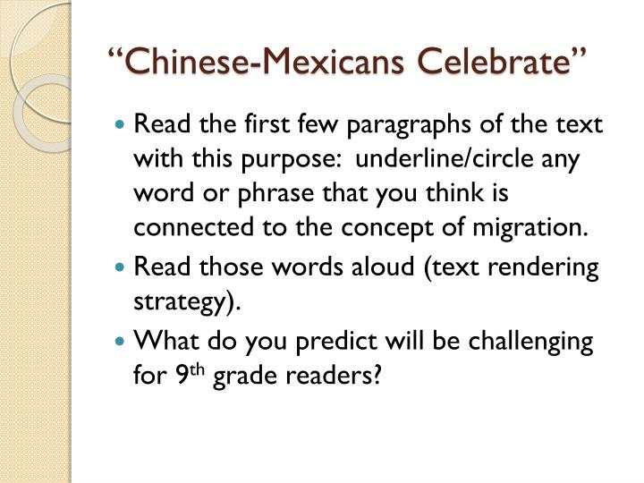 """Chinese-Mexicans Celebrate"""