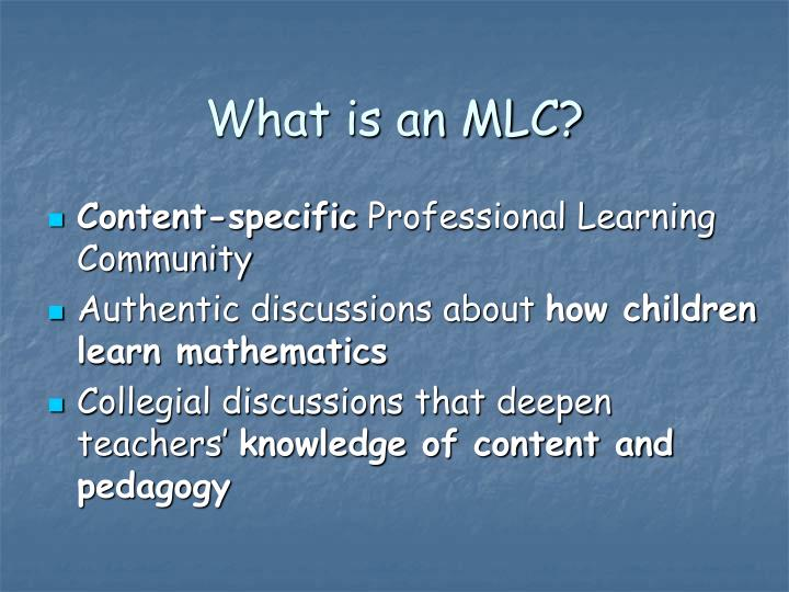 What is an mlc