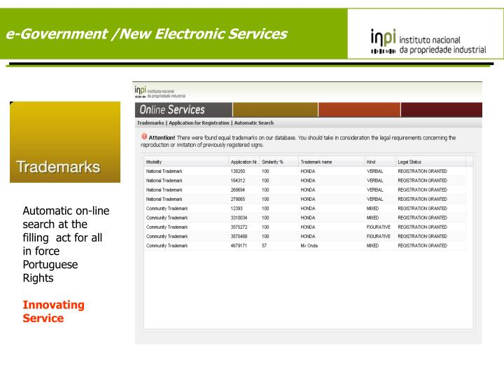 e-Government /New Electronic Services