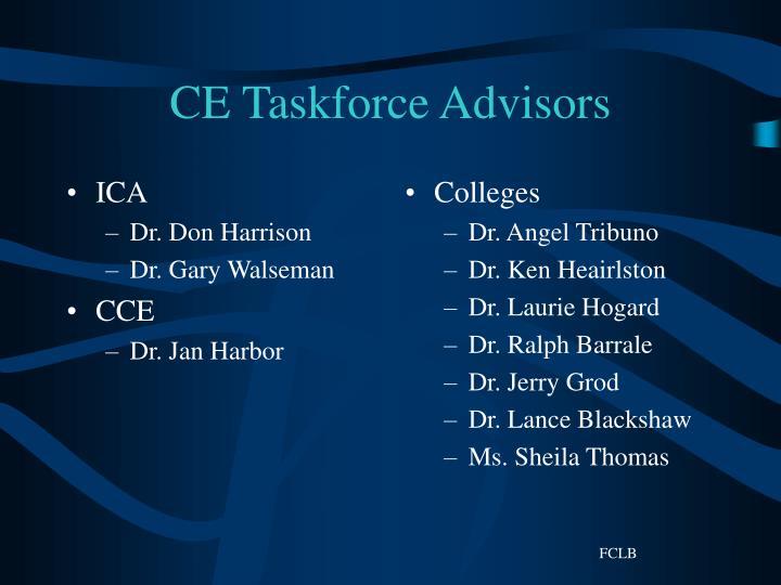Ce taskforce advisors