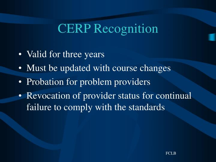 CERP Recognition