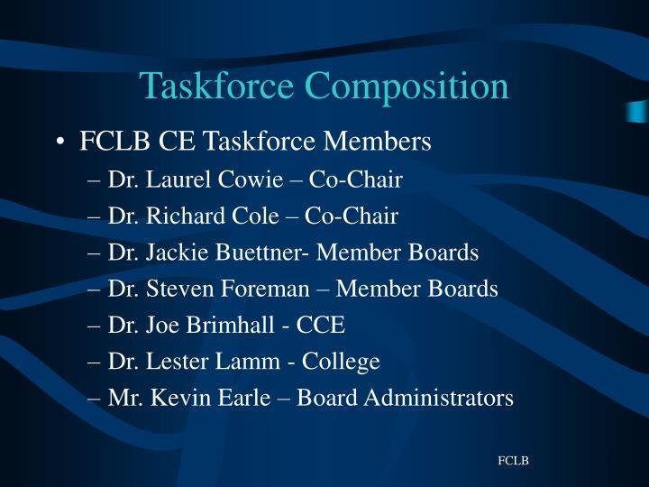 Taskforce composition