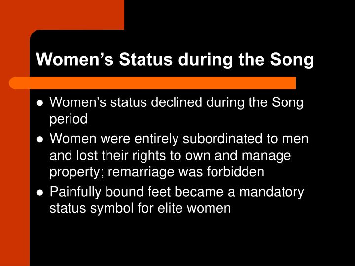Women's Status during the Song