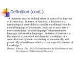 definition cont