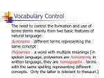 vocabulary control