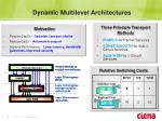 dynamic multilevel architectures