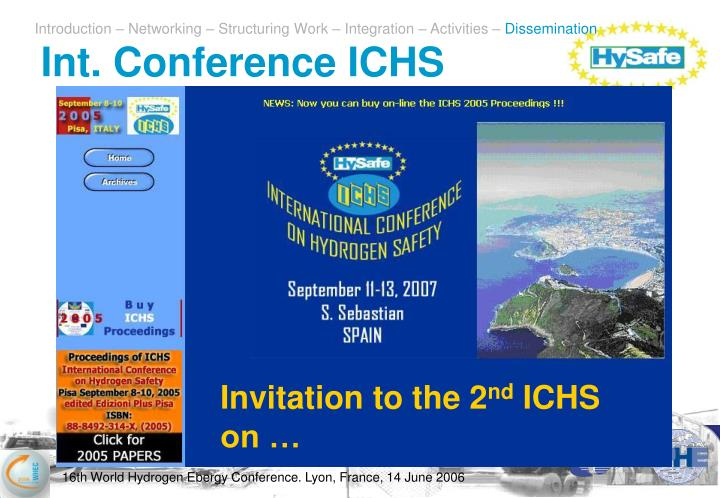 Int. Conference ICHS
