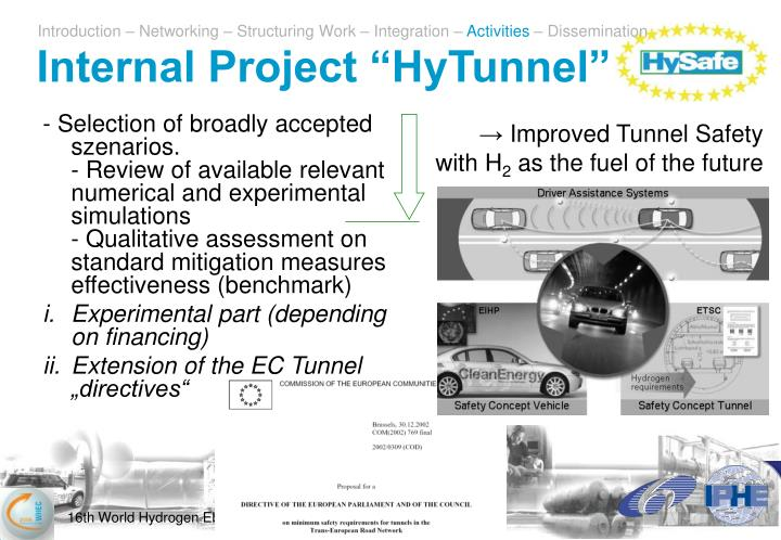 "Internal Project ""HyTunnel"""