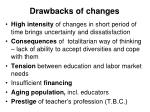 d rawback s of changes