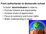 f rom authoritarian to democratic school