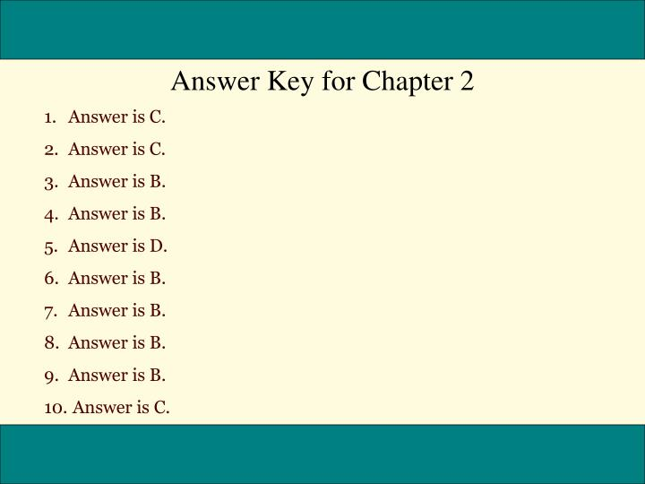 Answer Key for Chapter 2