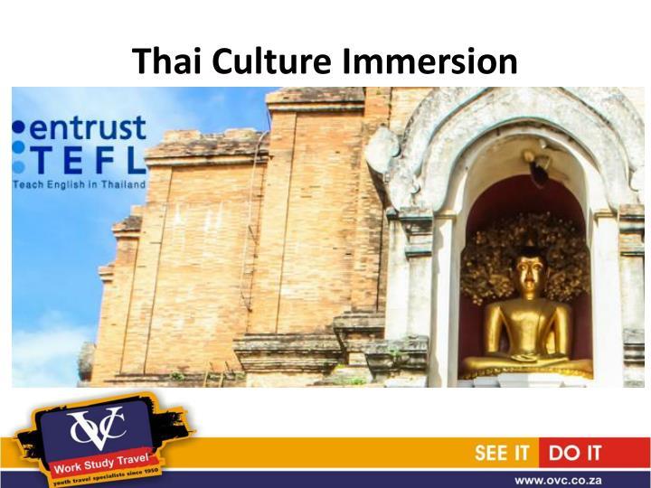 Thai Culture Immersion