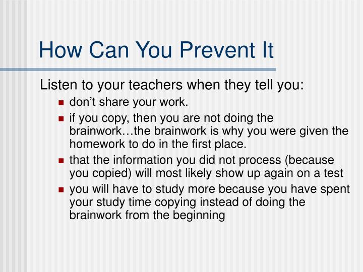 How Can You Prevent It
