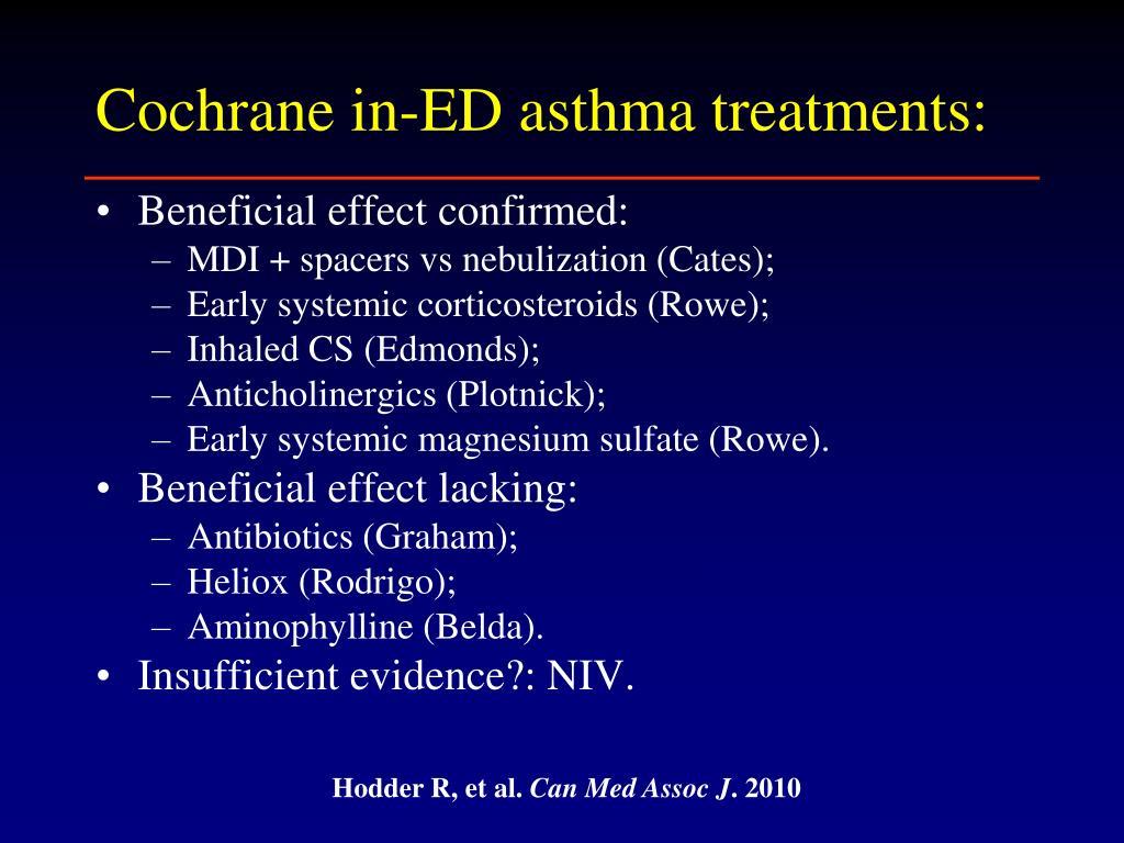 PPT - Treatment of Acute Asthma PowerPoint Presentation ...