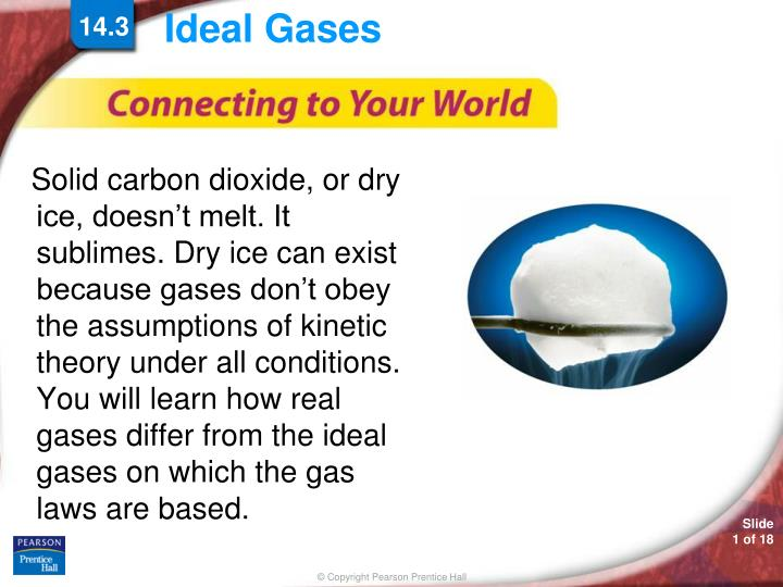 carbon dioxide and ideal conditions