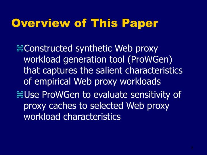 Overview of This Paper
