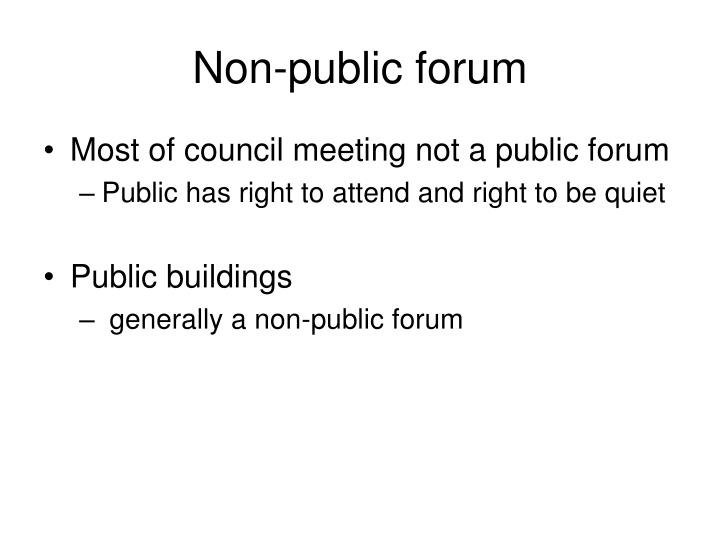 Non-public forum