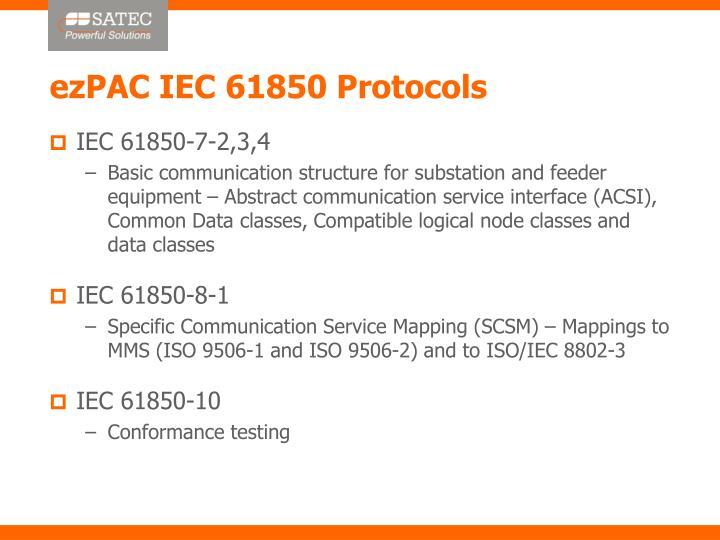 ezPAC IEC 61850 Protocols