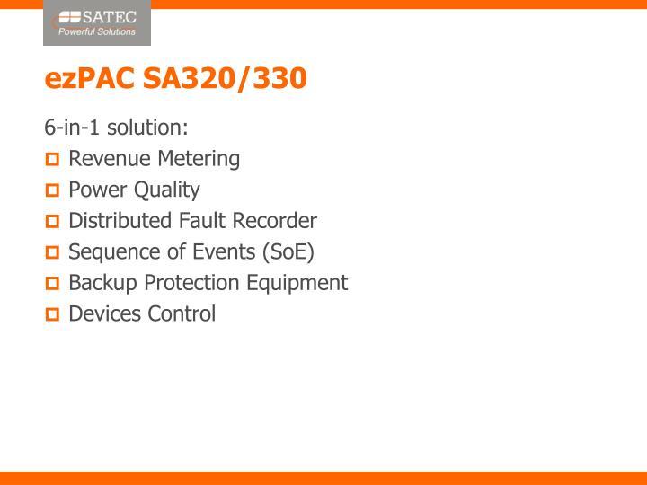 ezPAC SA320/330