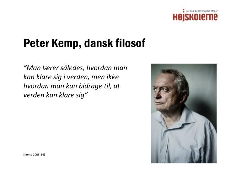 Peter Kemp, dansk filosof