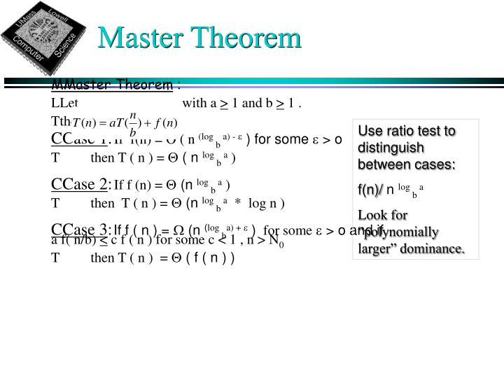 Master Theorem