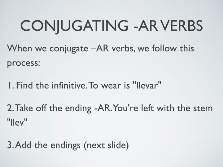 encontrar conjugation