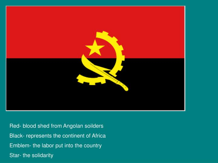 Red- blood shed from Angolan soilders