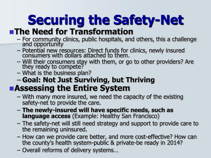 Securing the Safety-Net