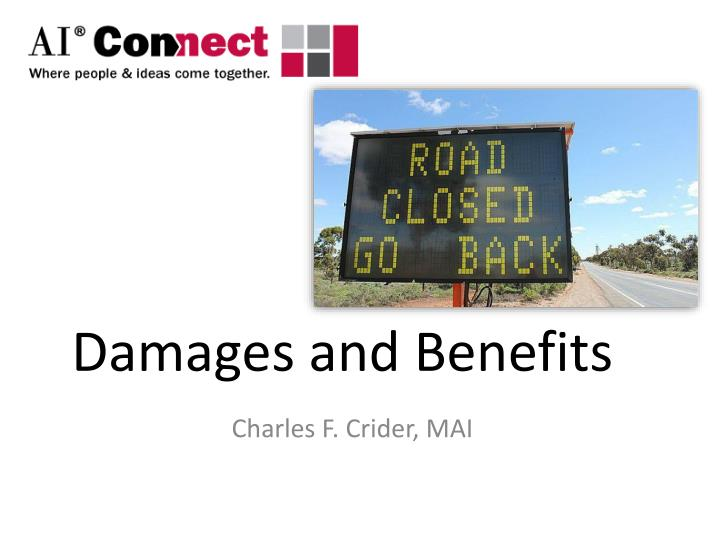 Damages and benefits