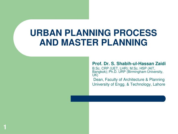 urban planning process and master planning n.