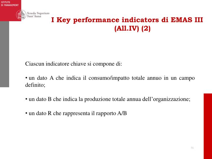 I Key performance indicators di EMAS III (All.IV) (2)