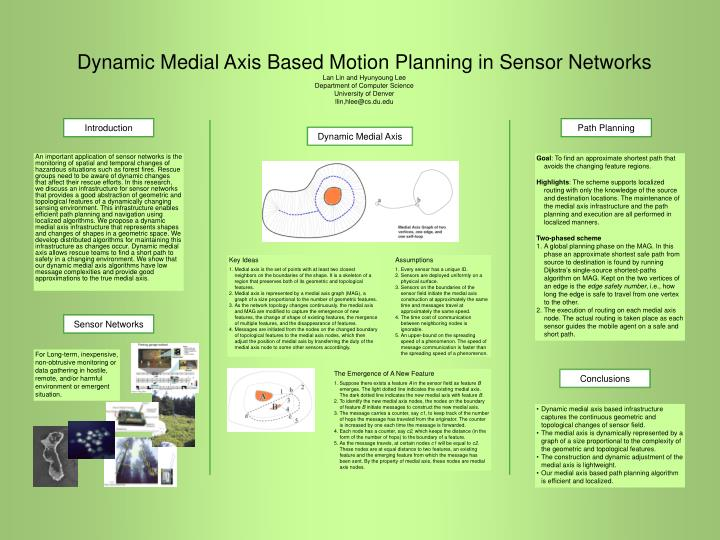 Dynamic Medial Axis Based Motion Planning in Sensor Networks