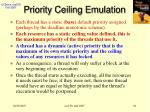 priority ceiling emulation