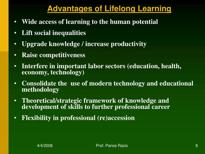 Wide access of learning to the human potential