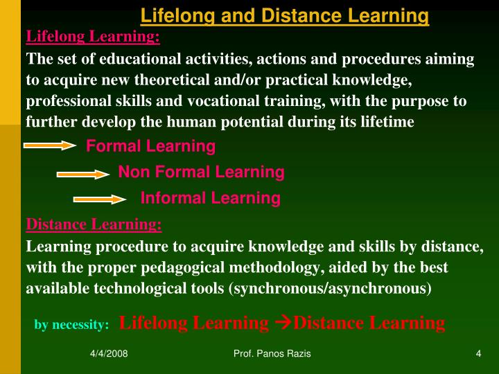 Lifelong and Distance Learning