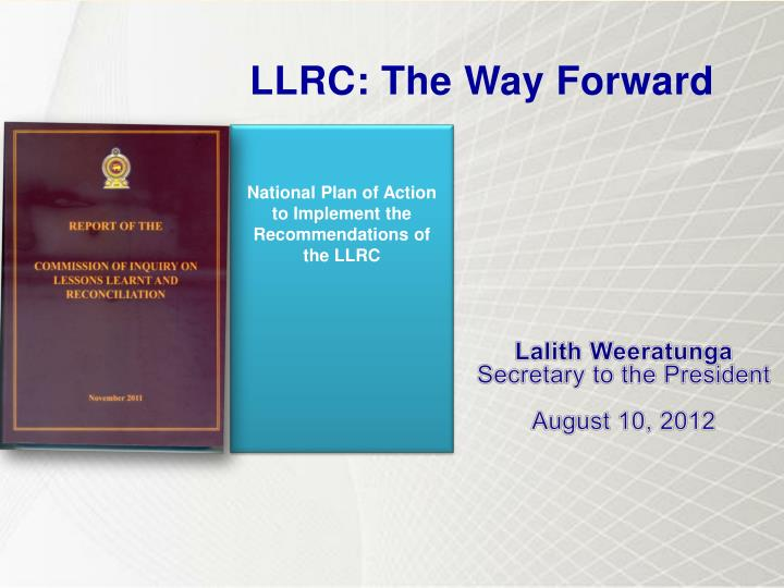 national plan of action to implement the recommendations of the llrc n.