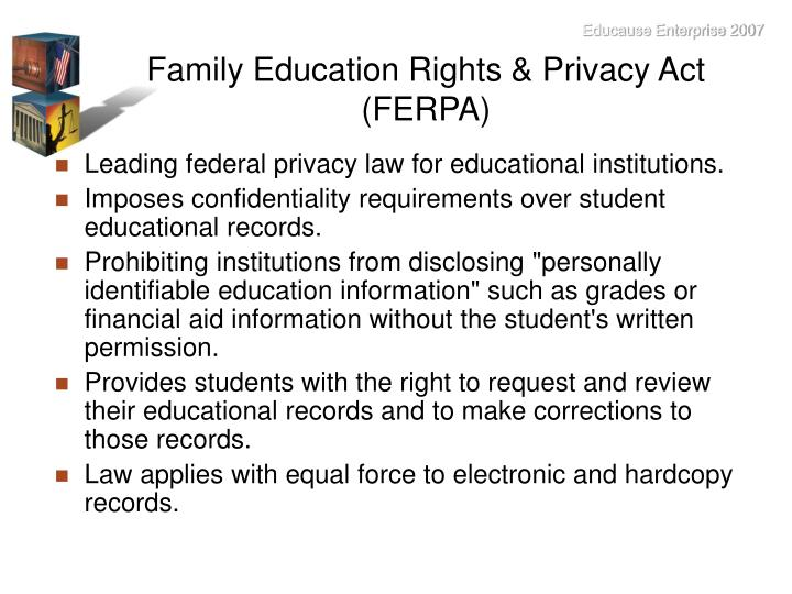 Family Education Rights & Privacy Act