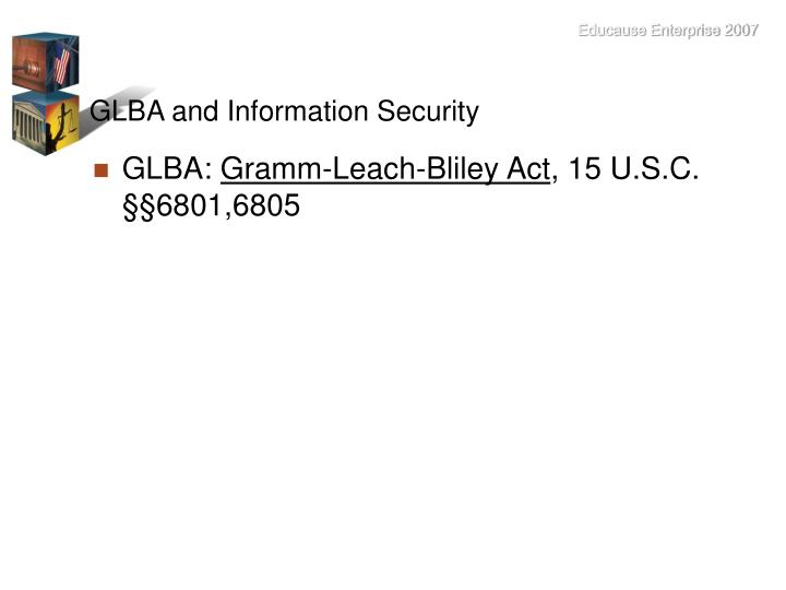 GLBA and Information Security